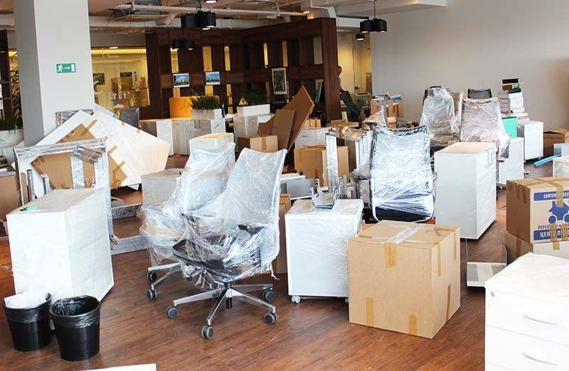 мебель подготовлена к переезду на офисном переезде